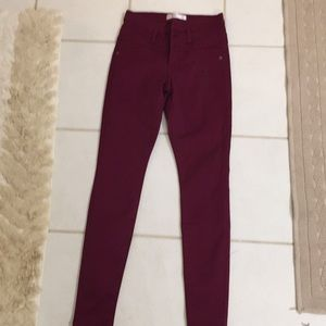 Cranberry shinny jeans